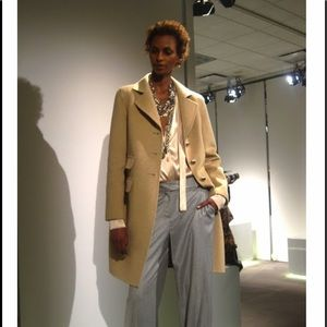 St. John Collection Double Face Camel Coat size 6